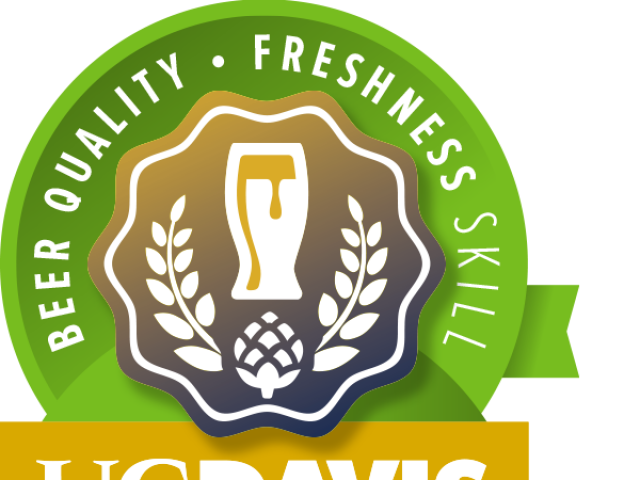 UC Davis Brewing badge illustration